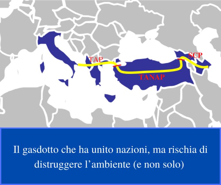 Gasdotto percorso del Corridoio Meridionale del Gas
